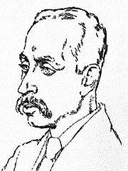 Rainer Maria Rilke d'après un dessin d'Emil Orlik (1917)
