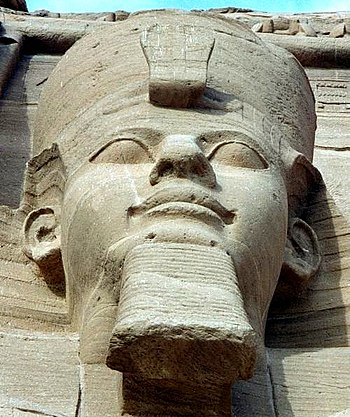 English: Pharaoh Ramses II of Egypt in Abu Sim...