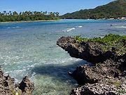 Beach on Rarotonga.