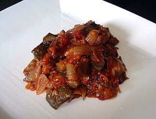 Ratatouille French Provençal stewed vegetable dish