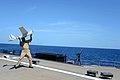 Rear Adm. Harris launches a Puma at sea. (8693197518).jpg