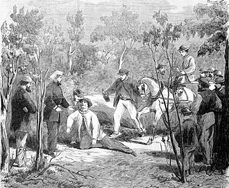 John Dunn (bushranger) - Dunn being recaptured