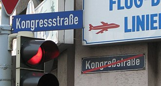 Spelling reform - Street name adapted to last German spelling reform