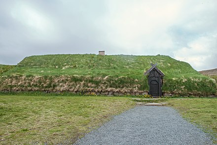 A reconstructed Viking house in Iceland Reconstructed Viking House.jpg