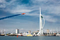 Red Arrows display at Portsmouth in July 2008 2.jpg