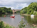 Red Boat on the River Dee - geograph.org.uk - 497858.jpg