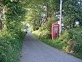 Red phone box near Efail Cenin - geograph.org.uk - 182962.jpg