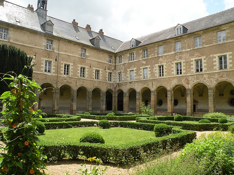 Cloister of Saint-Sauveur abbey in Redon