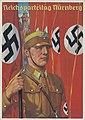 Reichsparteitag Nürnberg Ansichtskarte 1937 NSDAP Propaganda Richard BORRMEISTER Verlag Photo-Hoffmann 37-5 München Sturmabteilug SA-Mann Burg Nazi Rally Nuremberg castle Postcard No known copyright restrictions 866406-000000.jpg