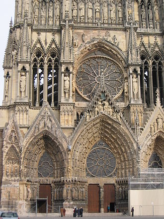 Rose window - Reims Cathedral, France