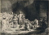 Rembrandt Harmensz. van Rijn - Christ with the Sick around Him, Receiving Little Children (The 'Hundred Guilder Print') - Google Art Project.jpg