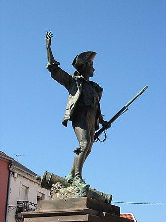 Fédéré - Le Volontaire de 1792, public statue in Remiremont