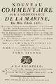 René-Josué Valin - Nouveau commentaire sur l'ordonnance de la marine du mois d'août 1681, T2, 1760, page de titre.png