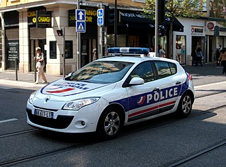 National Police (France) - Image: Renault Mégane III Police nationale à Nice