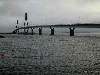 Korsholm - The Replot Bridge on a grey autumn day