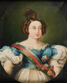Retrato da Rainha D. Maria II com a Banda das Três Ordens - Escola Portuguesa do séc. XIX.png