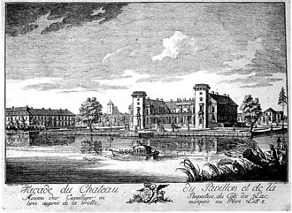 Georg Wenzeslaus von Knobelsdorff - Rheinsberg Castle around 1740, excerpt from an engraving