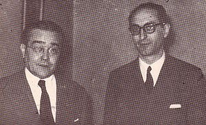 Arturo Frondizi - Newly elected Congressmen Frondizi and Ricardo Balbín (1946), who named Frondizi his running mate in 1951. They parted ways in a few years.