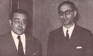 Ricardo Balb%C3%ADn y Arturo Frondizi 1946