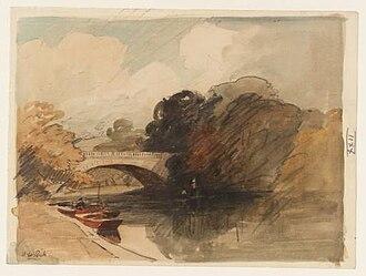 Alfred William Rich - Shillingford Bridge, circa 1911, Tate Gallery.