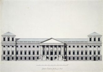 Richmond Palace - An Elevation for a new Richmond Palace by Sir William Chambers in 1765. This plan was not taken up by the King. A new palace was started on a different design, but was not completed.