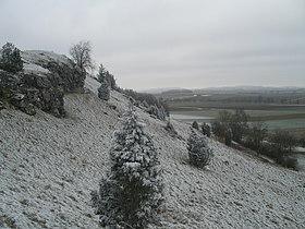 Край кратера около деревни Мёнксдеггинген