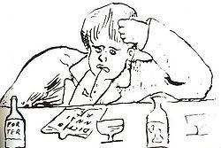 Rimbaud as drawn by Verlaine