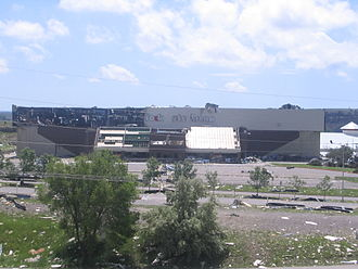 Rimrock Auto Arena at MetraPark - The arena after the 2010 Billings tornado