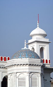 Minarets of the Husaini Dalan, the seat of the minority Shia community