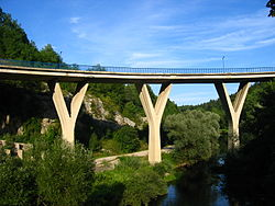 Road bridge in Slunj