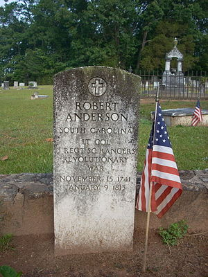 Robert Anderson (Revolutionary War) - Robert Anderson's grave marker at Old Stone Church (Clemson) cemetery