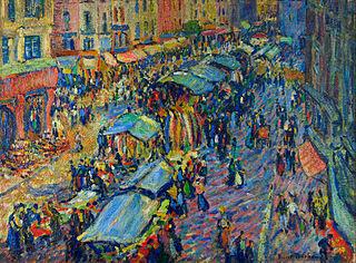 Robert Antoine Pinchon, Le marché de Pont Audemer - Fauvismo - Domingo com Limonada