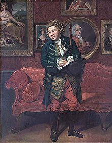 Robert Baddeley as Moses in Sheridan's 'The School for Scandal' c1781, by Johann Zoffany.jpg