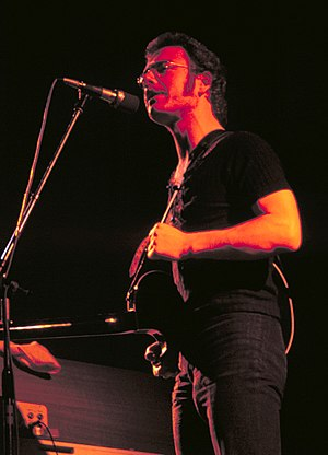 Robert Fripp - Fripp, on tour with King Crimson, in 1973.