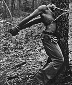 Robert McDaniels, lynched April 13, 1937, in Duck Hill, Mississippi