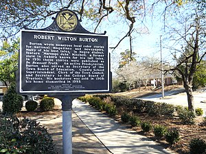 National Register of Historic Places listings in Lee County, Alabama - Image: Robert Wilton Burton House Historic Marker 2