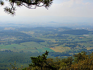 Rockingham County, Virginia - View of Rockingham County from Massanutten Mountain (looking west)