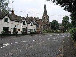 Rolleston on Dove a village located in East Staffordshire, United Kingdom
