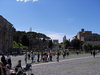 Roman Forum from the Colosseum 2.jpg