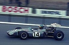 Ronnie Peterson am 1. Mai 1970 beim Training zum Eifelrennen auf dem Nürburgring