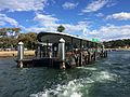 Rose Bay ferry wharf, departing view, April 2017.jpg