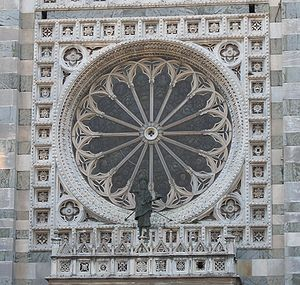 Monza Cathedral - The rose window