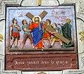 Rospez. Eglise. Chemin de Croix. Jésus est chargé de sa croix.jpg