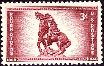 English: US Postage stamp, 3c, 1948 issue, Rou...