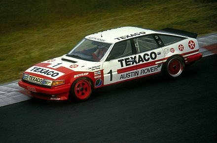 The Rover SD1 of Tom Walkinshaw and Win Percy at the Nurburgring in 1985. Rover Vitesse 19850706.jpg