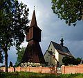 Rtyně v Podkrkonoší (Hertin) - kostel sv. Jana Křtitele a zvonice.JPG