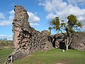 Ruined curtain wall of Skenfrith Castle - geograph.org.uk - 714667.jpg