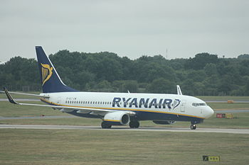 Ryanair Boeing 737-800 at Stansted