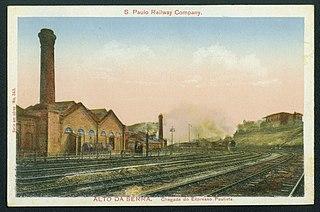 S. Paulo Railway Company. - Alto da Serra. Chegada do Expresso Paulista