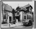SIDE (EAST) ELEVATION - First Unitarian Church, 2121 Chestnut Street, Philadelphia, Philadelphia County, PA HABS PA,51-PHILA,296-3.tif
